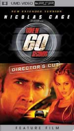 Miscellaneous Gone In 60 Seconds UMD Movie PSP