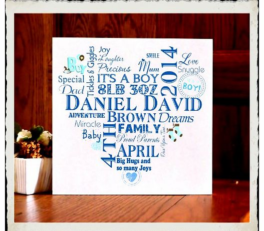 Baby Girl Boy Wooden Personalised Plaque Birth Sign Keepsake Typography Gift W107