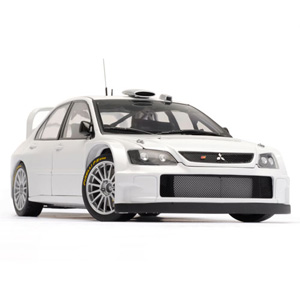 Mitsubishi Lancer WRC 2005 plain body - White 1:18