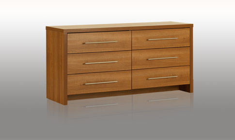 modular bedroom walnut 6 drawer wide chest review