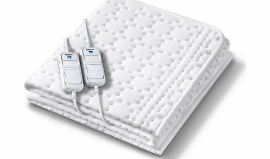 Monogram Allergyfree Heated Super King Size Dual Controller Mattress Cover with Allergy Protection Using HHL Technology