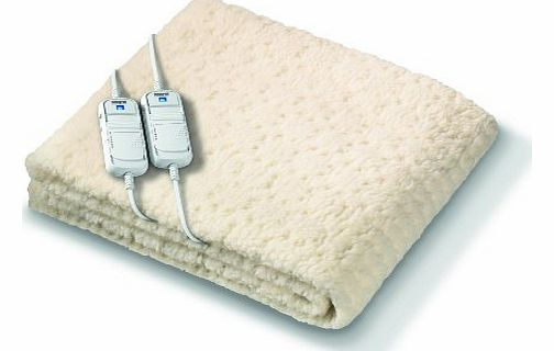 Monogram Komfort Fully Fitted Fleecy Heated Blanket/Mattress Cover - Double Dual Control 190 x 137cm