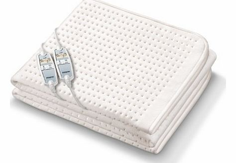 Monogram Luxurious Premium Heated King Size Dual Control Mattress Cover with Four Heat Zones