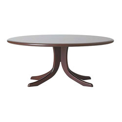 Balmoral Oval Coffee Table - Mahogany