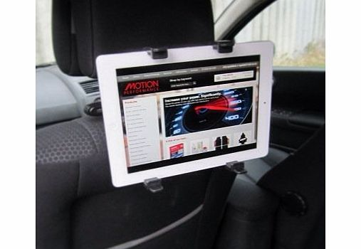 Motionperformance Essentials Black Interior In Car Tilt amp; Rotate All Apple IPad, DVD amp; Tablet Headrest Mount Stand Holder - NEW 2013 PRODUCT
