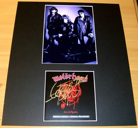 - CD COVER SIGNED BY LEMMY -MTD 14 X 12