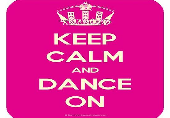 Keep Calm And Dance On Customized Rectangle Mousepad