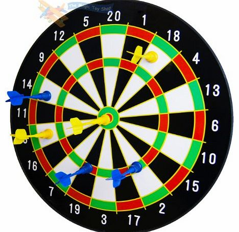 16`` Magnetic Dart Board Dartboard with 6 Darts Party Game Set Doink It