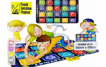 Childrens Kids Giant Electronic Musical Floor Play Mat 6 Designs: Twister Move, Dance Mixer, Drum Kit, DJ Music Style, Gigantic Keyboard, Giant City + Cars (Twister Move)