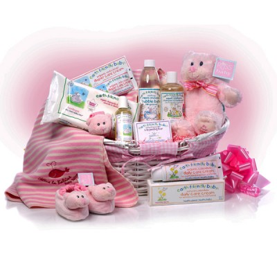 MY First Teddy Baby Girl Basket