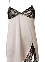 Isabella pearl grey silk blend chemise