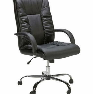 Napoli Gas Lift Leather Office Chair - Black