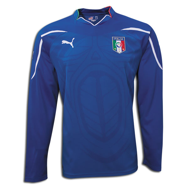 Puma 2010-11 Italy Long Sleeve World Cup Home Shirt