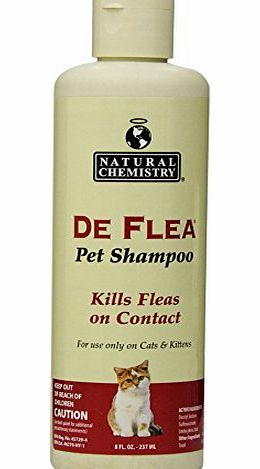 Natural Chemistry Deflea Shampoo For Cats 8Oz-