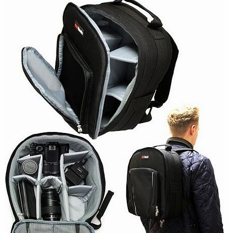 Digital SLR Camera & Lense Backpack Bag Case For The Panasonic Lumix G DMC-GH3/ Panasonic Lumix G DMC-GH2/ Panasonic Lumix DMC-FZ200/ Panasonic Lumix GH4 DMC-GH4HEB