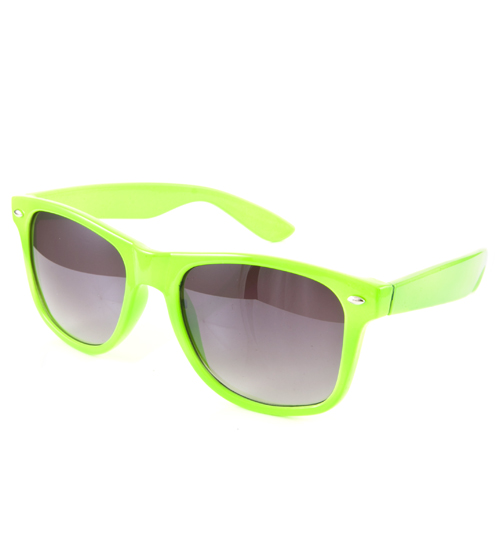 Green Wayfarer Sunglasses