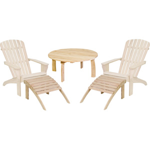 Albany Adirondack Coffee Table 2 Chairs