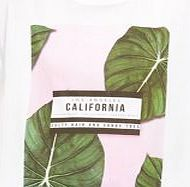 White Palm Tree California Boyfriend T-Shirt
