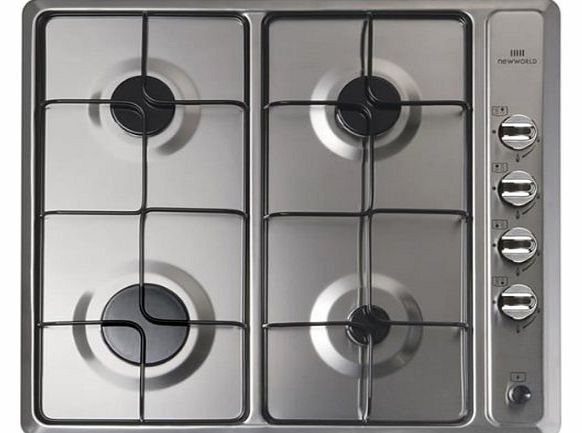 New World NWGHU601 Gas Hob in Stainless Steel