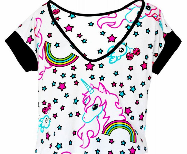 Fantasize Unicorn Crop T-Shirt