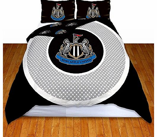 OFFICIAL Newcastle United FC Bullseye Double Reversible Duvet Cover and Pillowcase Set (NCSD1)