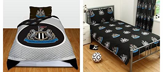 OFFICIAL Newcastle United FC Bullseye Single Reversible Duvet Cover and Pillowcase Set (NCUSD2)