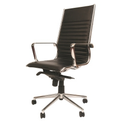 Niceday Cannes Leather Faced Office Chair Black