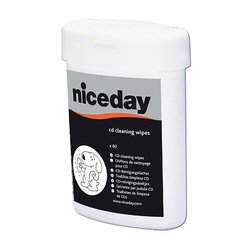 Niceday CD/Dvd Cleaning Wipes - 60 Wipes