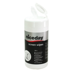 Niceday Screen Cleaning Wipes - Tub Of 100 Wet