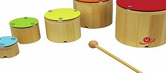 Nicko Nesting Xylophone Bamboo Childrens Wooden Musical Toy Set