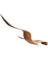 Nigel`s Eco Store Hand Made Wooden Seagull Mobile - the magic of
