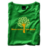 Nigel`s Eco Store `More Trees` Green Eco T-Shirt - light  soft and