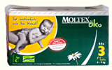 Nigel`s Eco Store Pack of 44 Moltex Eco-Friendly Baby Nappies Midi