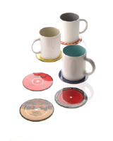 Nigel`s Eco Store Retro Vinyl Coasters - recycled vinyl records