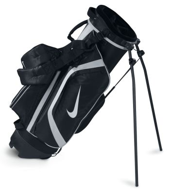 NIKE EAGLE SILVER JUNIOR KIDS CARRY STAND GOLF BAG Black/Silver