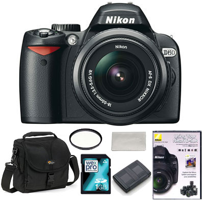 D60 Digital SLR with 18-55mm VR Lens -