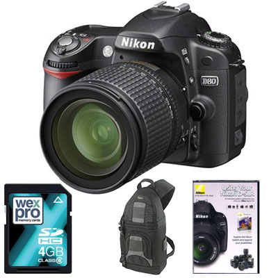 D80 Digital SLR with 18-135mm Lens -