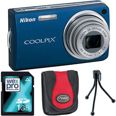 S550 Blue Compact Camera with Bag, 1GB SD