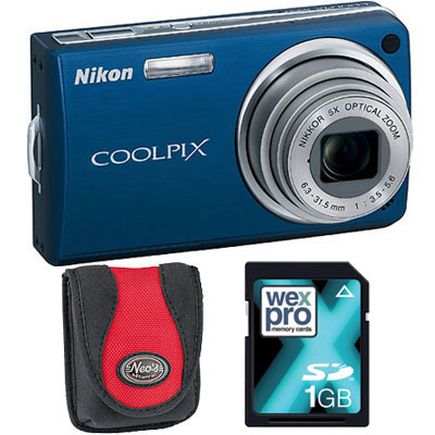 S550 Blue Compact Camera with Bag and