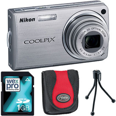 S550 Silver Compact Camera with Bag, 1GB