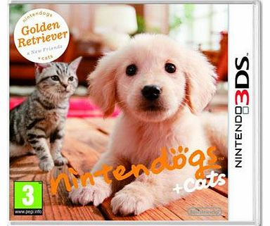 gs and Cats 3D - Golden Retriever on