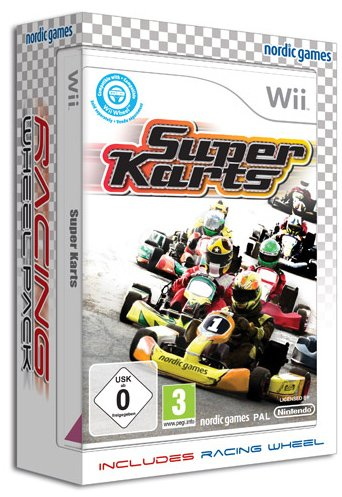 Super Karts Bundle with Racing Wheel Wii