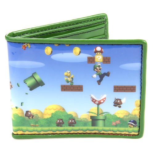 Super Mario Brothers Printed Wallet