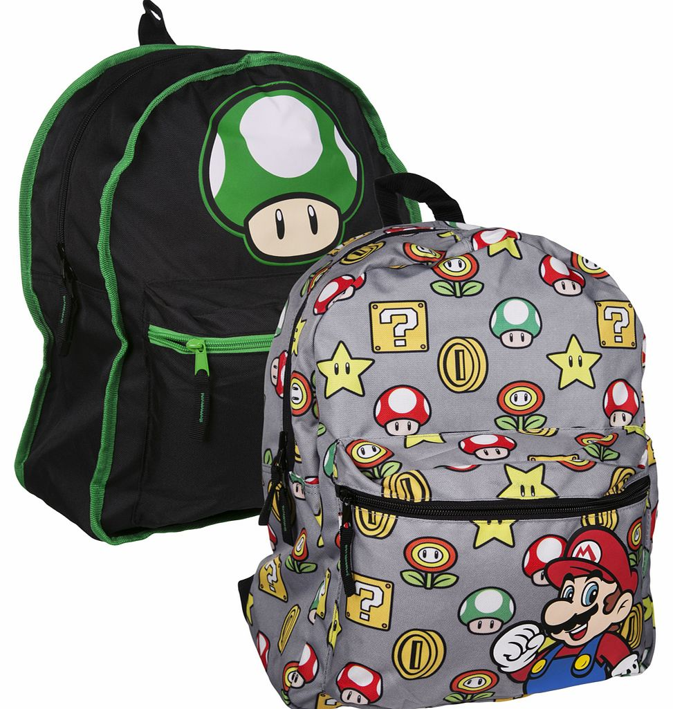 Super Mario Brothers Reversible Backpack