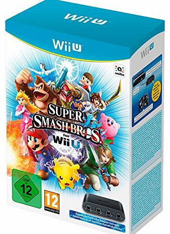 Super Smash Bros Plus GameCube Controller Adapter (Nintendo Wii U)