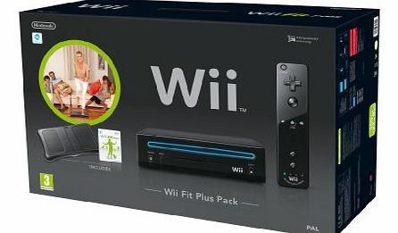 Wii Console (Black) with Wii Fit Plus: Includes Balance Board and Wii Remote Plus