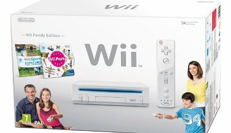 Wii Console (White) with Wii Sports and Wii Party