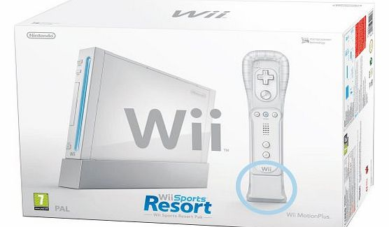 Wii Console with Wii Sports + Wii Sports Resort and Motion Plus Controller (Wii)