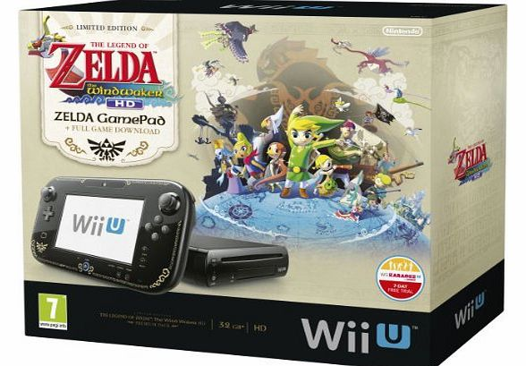Wii U 32GB The Legend of Zelda: Wind Waker HD Premium Pack - Black (Nintendo Wii U)
