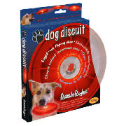 Dog Discuit LED Frisbee Red
